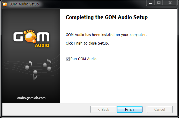GOM Audio installation window 6