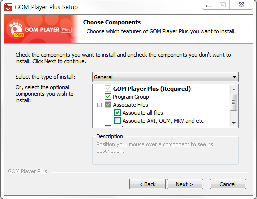 GOM Player plus installion window 3